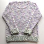 トップダウンで編むラグランセーター2作目・今回は、既存の服のサイズに合わせて編んでみたのですが・・・