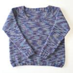 トップダウンで編むラグランセーター3作目:今回は細かい部分をいろいろと変えて編んでみました!