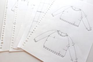 【とじ・はぎなし!】ネックから編むトップダウンのラグランセーターの編み方 その2