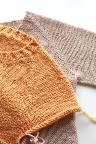 綺麗な見た目のラグラン線を編む方法(ラグランセーターの編み方・補足)