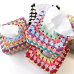 【動画・編み図あり】ハーフティッシュボックスカバーの編み方