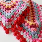 【動画あり】グラニースクエアのポンポン(Pompom)の縁取りの編み方