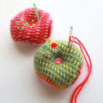 【動画あり】プレーンアフガン編みで作る、ビスコーニュ風ピンクッションの編み方