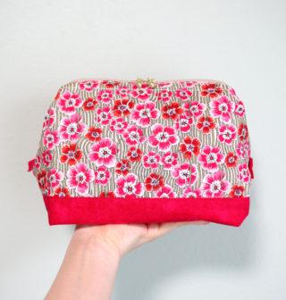 編み物のプロジェクトバッグに最適な、ワイヤーポーチを作りました。裁縫初心者が感じた、きれいにポーチを作るコツなど