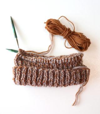 棒針編み初心者が初めて編む作品として、一番ふさわしいものは何だろう?と考える