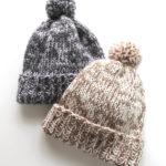 【初心者向け・動画あり】ダイソーの糸で編む、簡単な帽子の編み方【棒針編み】