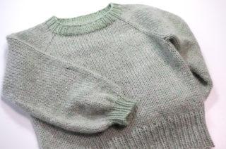 【動画あり】もっと簡単なラグランセーターの編み方 その1.材料と道具、ゲージの取り方