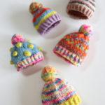 【動画あり】小さい帽子の編み方。リカちゃんのニット帽としても使えます!