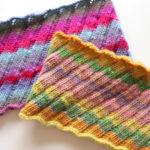 【動画あり】エストニアン・スパイラル(斜めゴム編み)のネックウォーマーの編み方