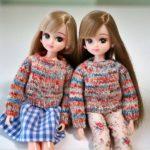 【動画あり】リカちゃんのセーターの編み方(棒針編み)ブライスにも!(後編)