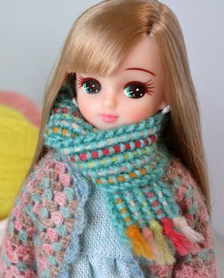 【動画あり】リカちゃんのマフラーの編み方。とても簡単なので、初めての棒針編み作品にもおすすめです!