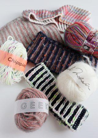 【動画】ブリオッシュ編みのネックウォーマー再び。伸縮性のある1目ゴム編みの作り目で、ヘアバンドにも応用できます。